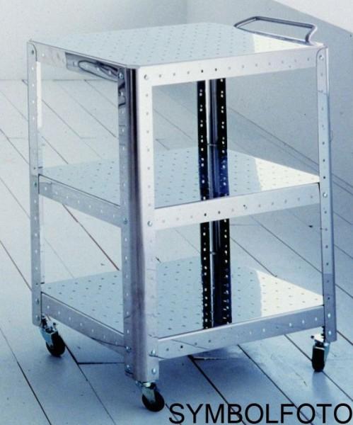Graepel G-Line Pro Regal Quadra S - TV HI-FI aus poliertem Edelstahl 1.4016 mit RŠder G-line Pro K00089321