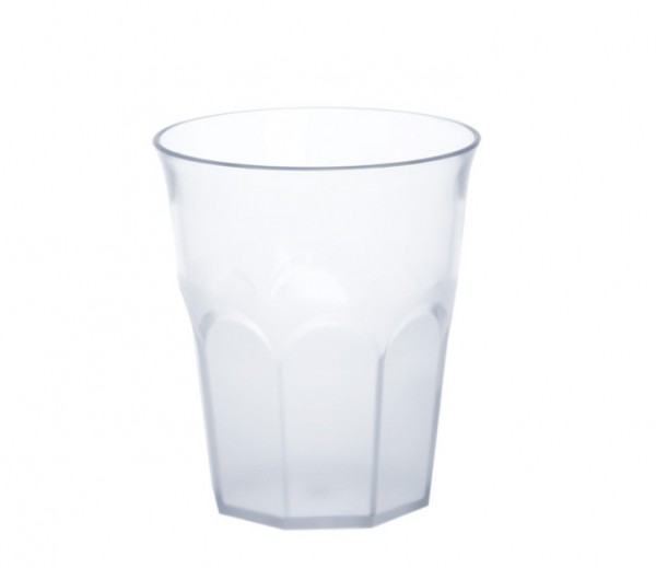 Set 12 piece Caipirinha-Glass partly frosted 0,2l - 0,3l SAN plastic dishwasher safe Schorm GmbH 9081