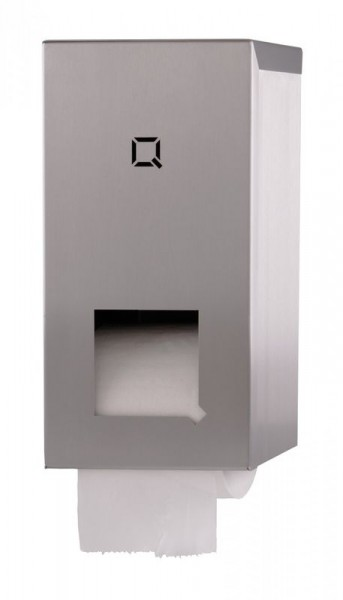 Qbic-Linetoilet paper dispenser for 2 rolls with plastic insert Qbic-line 7210