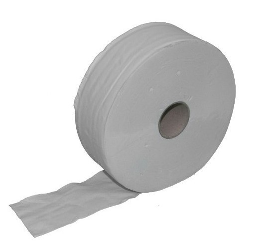 Jumbo toilet paper rolls packing unit 6 pieces - 300m - 2ply - recycling - white Jumbo-Toilettenpapier 22207