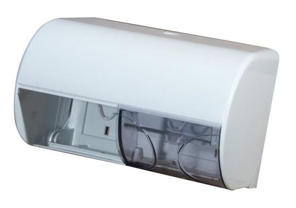 Marplast double toiletpaper dispenser in white or satin made of plastic Marplast S.p.A. A755