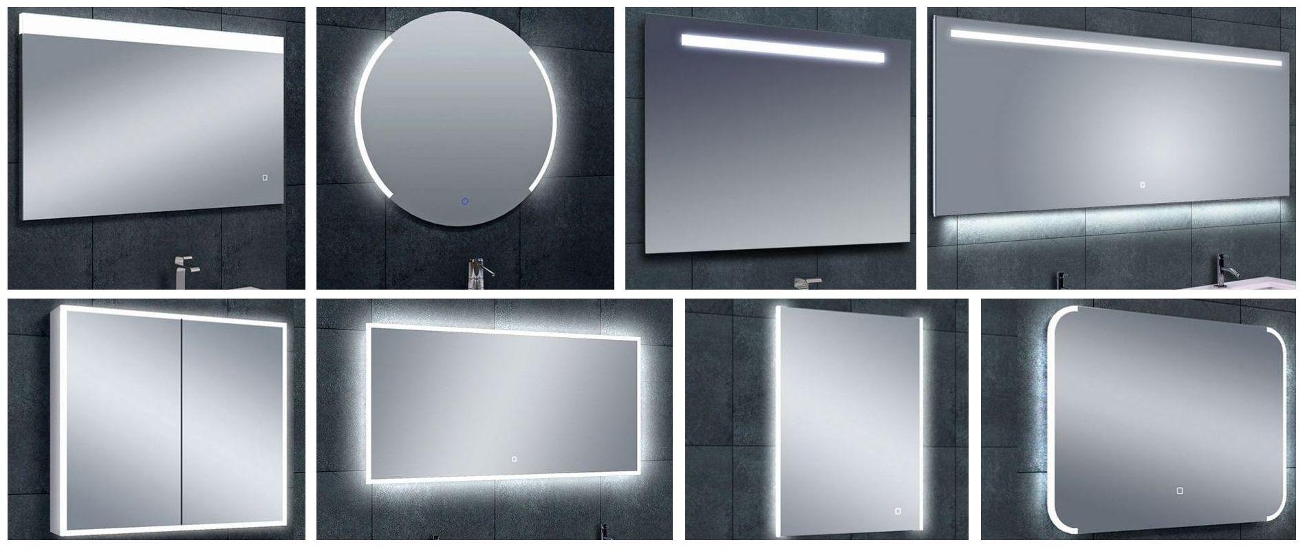 Badezimmerspiegel mit LED Licht von Wiesbaden