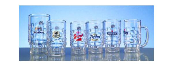 Mehrweg Gläser, Mehrweg Bierkrüge individuell bedrucken lassen