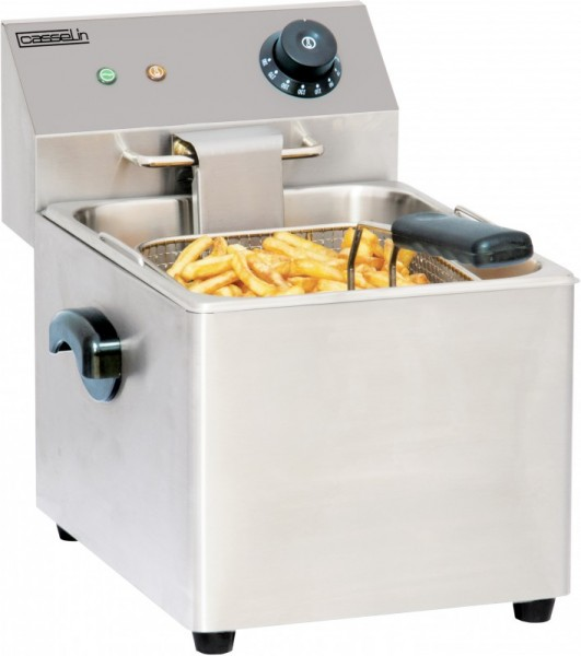 Casselin electric deep fat fryer 8l in stainless steel - safety thermostat 3250W Casselin CFE8