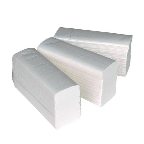 Papierhandtücher 2-lagig Zellstoff Z-Falz Interfolded Zellstof 3750 weiss   10131 HA001061