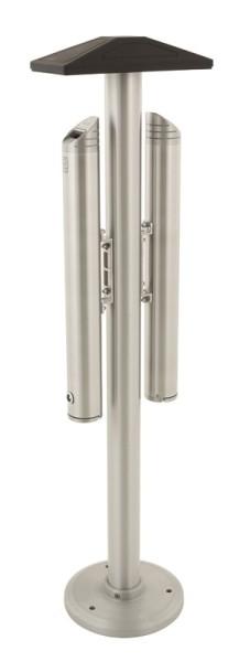 Standascher aus Aluminium mit zwei Aschenbechern 5 Liter VB 659951